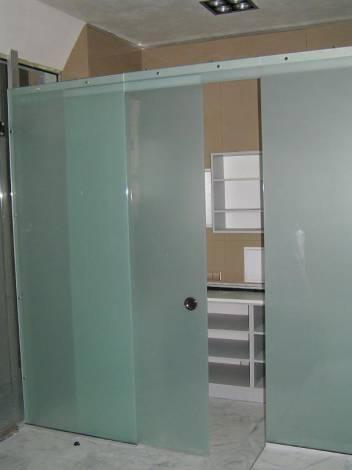 Раздвижные стеклянные двери 11