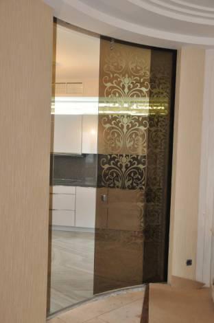 Раздвижные двери из стекла 10