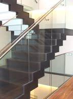 Скляна огорожа для сходів