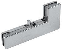A-40 – крепеж угловой с верхней осью для маятниковой стеклянной двери