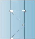 Комплект №4  для маятниковой двери DORMA UNIVERSAL