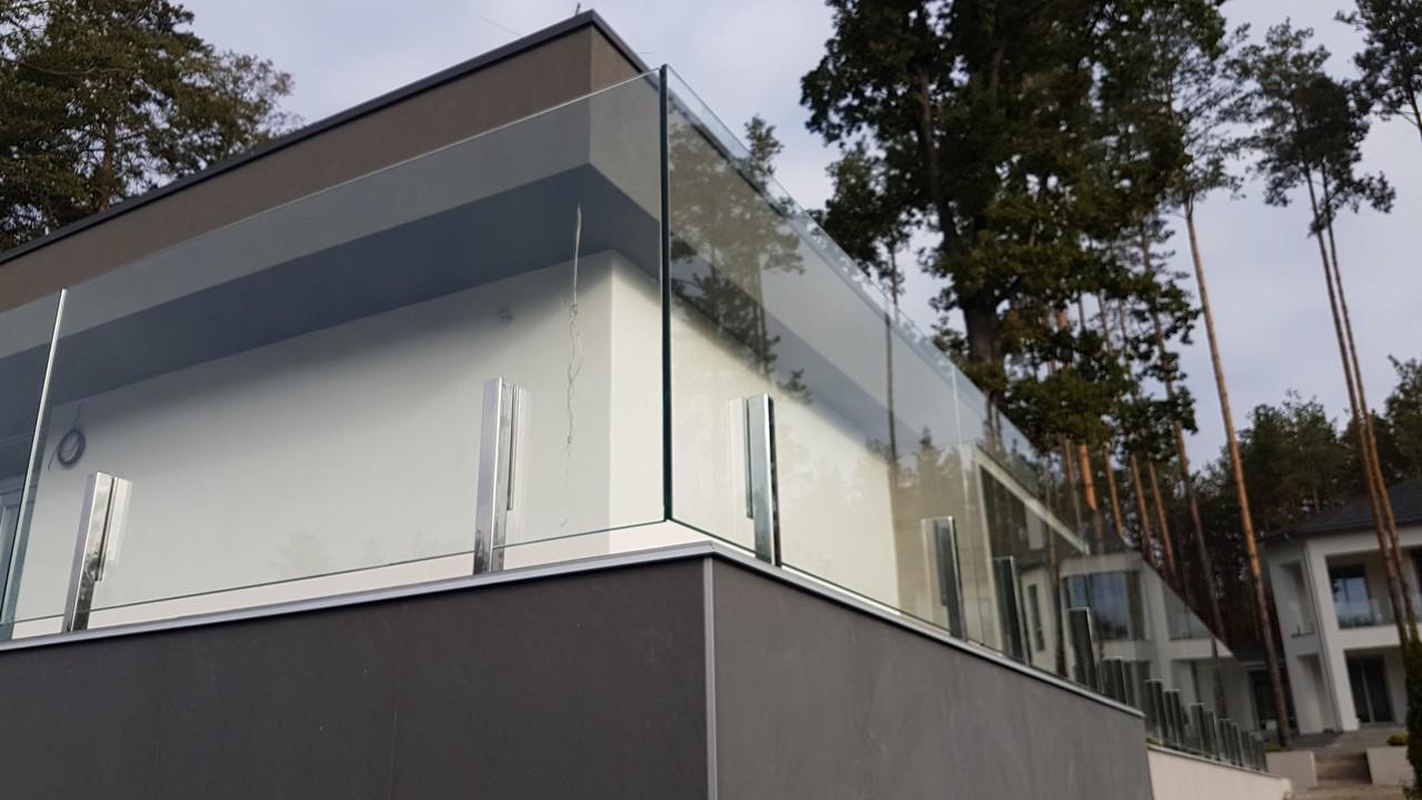 Пример стеклянного ограждения для террасы от Аспект-Плюс